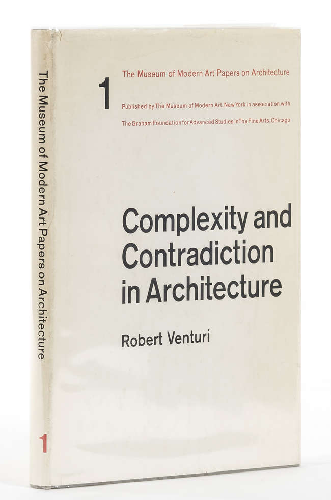Venturi (Robert) Complexity and Contradiction in Architecture, New York...