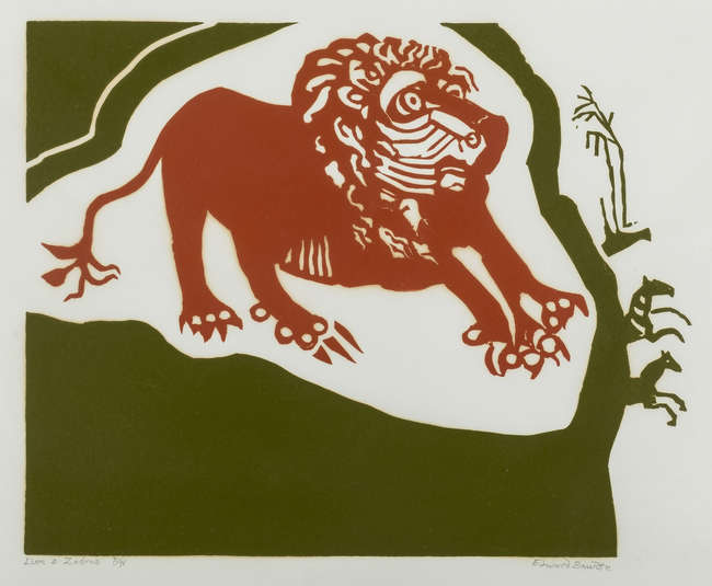 8Bawden - Lion and Zebras