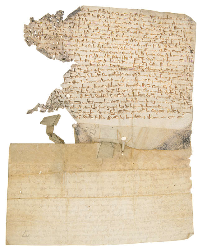 2Staffordshire.- William de Ferrers charter, 1240.