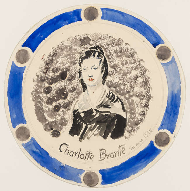 392Bell (Vanessa, 1879-1961) 'Charlotte Brontë', plate design for Kenneth Clark, 1932