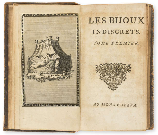 Diderot (Denis)] Les Bijoux Indiscrets, 2 vol., first edition, engraved...