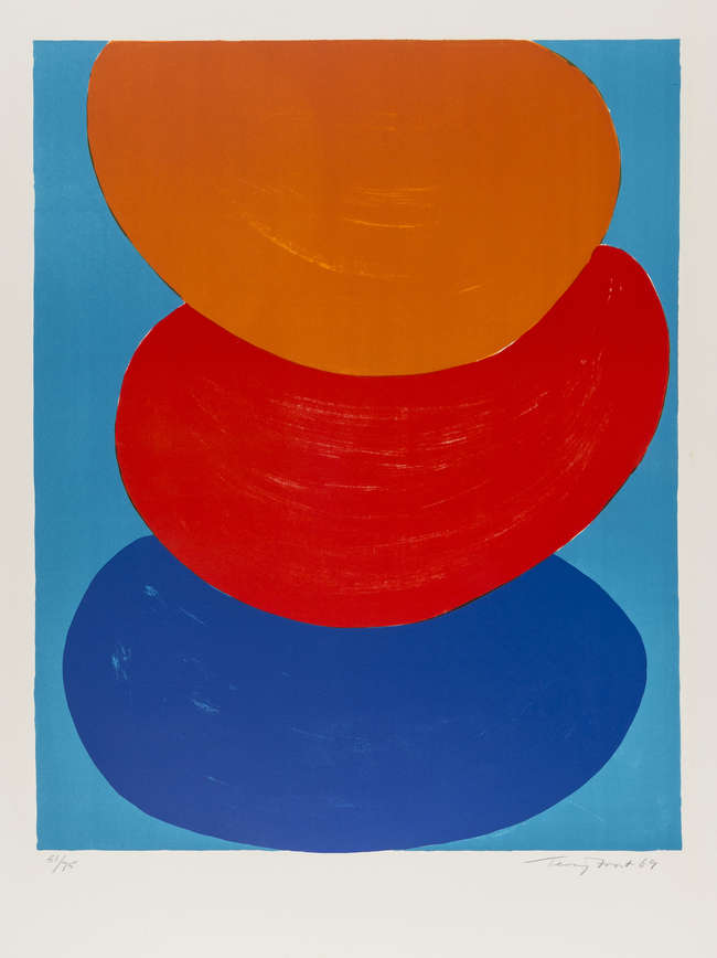 10Terry Frost, Ochre Red Blue, lith, 1969, Ed.70, Kemp 50