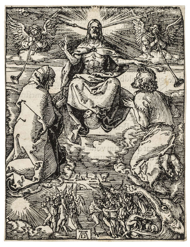 2Albrecht Dürer (1471-1528) The Last Judgment, from: The Small Woodcut Passion, woodcut, circa 1510, but 1511 Latin text edition.