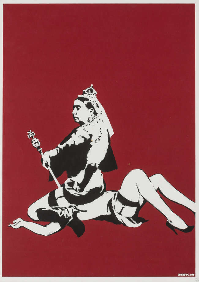6Banksy Queen Vic Unsigned