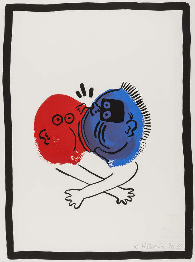 9Haring Story of Red and Blue
