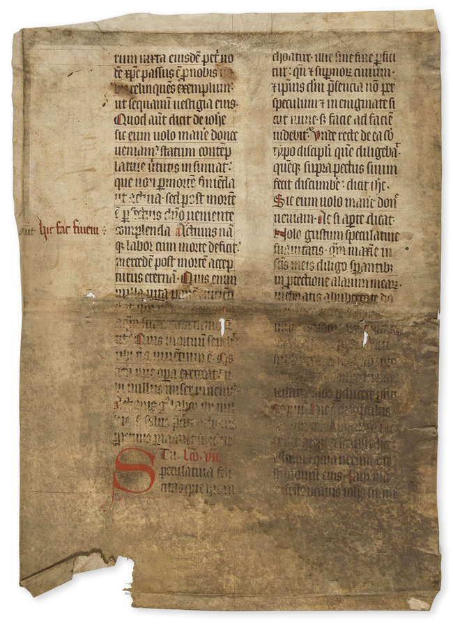115 lots medieval ms. leaves and fragments ex Sotheby's sale 7 Dec 2010