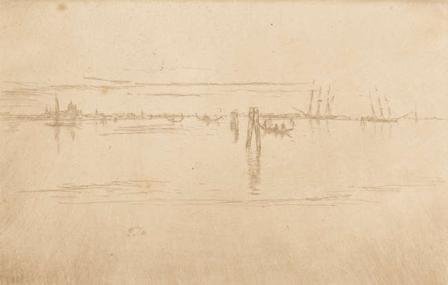 10James Abbott McNeill Whistler (1834-1903) Long Lagoon, circa 1883.