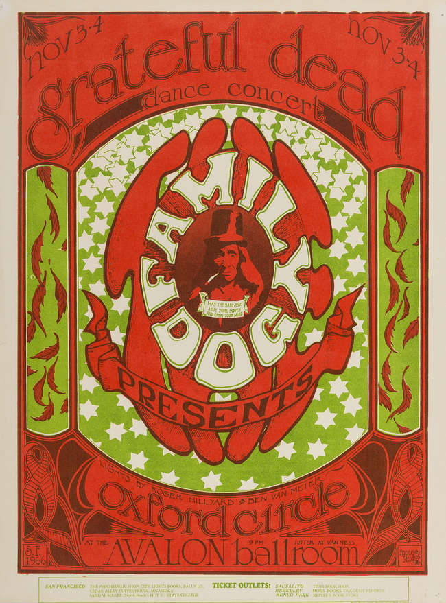 5Split from line 1 - The grateful dead - oxford circle poster