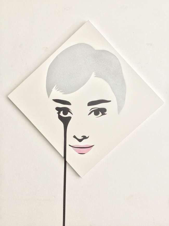 1Diamond Audrey Dusty Pink Lips - 76x76cm Canvas