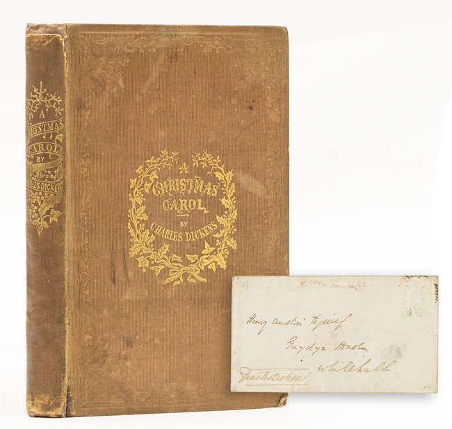 63 lot 63 dickens charles a christmas carol first edition - A Christmas Carol First Edition