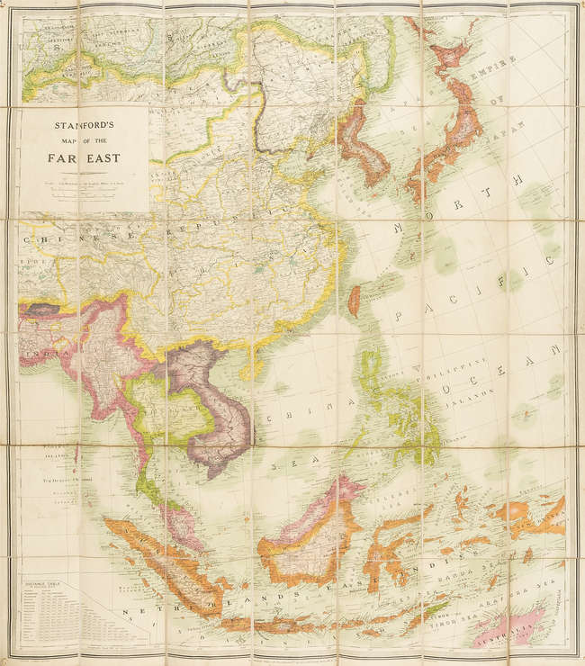 Map Of Asia Far East.Lot 13 South East Asia Stanford Edward Stanford 39 S Map Of