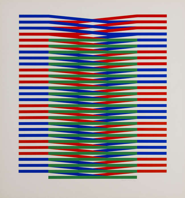 2Carlos Cruz-Diez No title 3. Silkscreen numbered of 50 pencil signed.