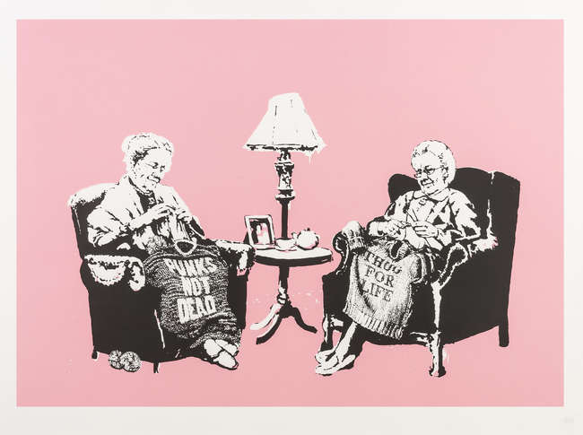 1Banksy Grannies unsigned