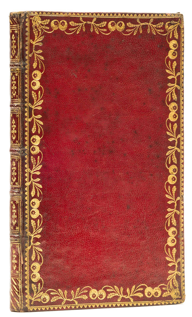 lot 50 binding blank address book 18thc red morocco gilt