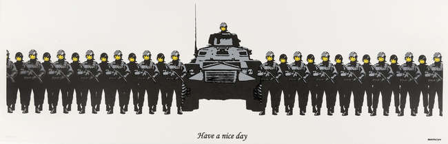 2Banksy Have a Nice Day signed
