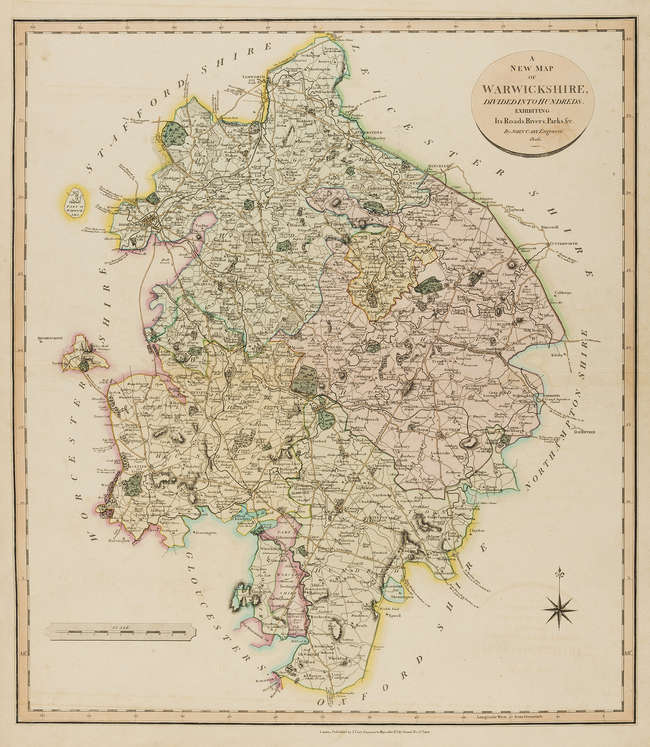 Lot 154 England Cary John A New Map Of Warwickshire A New Map