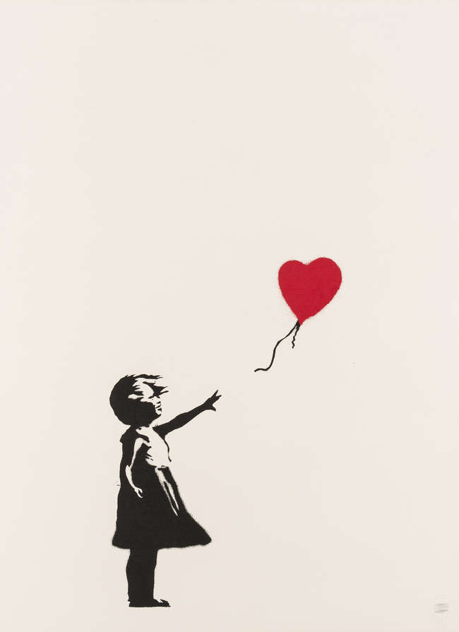7Banksy - Girl With Balloon - unsigned with COA