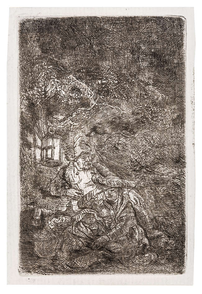 12Rembrandt van Rijn (1606-1669) The Rest on the Flight into Egypt: a Night Piece, 1644.
