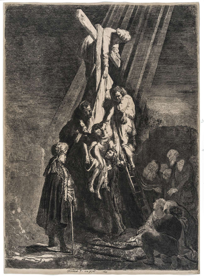 4Rembrandt van Rijn (1606-1669) The Descent from the Cross: Second Plate, 1633.