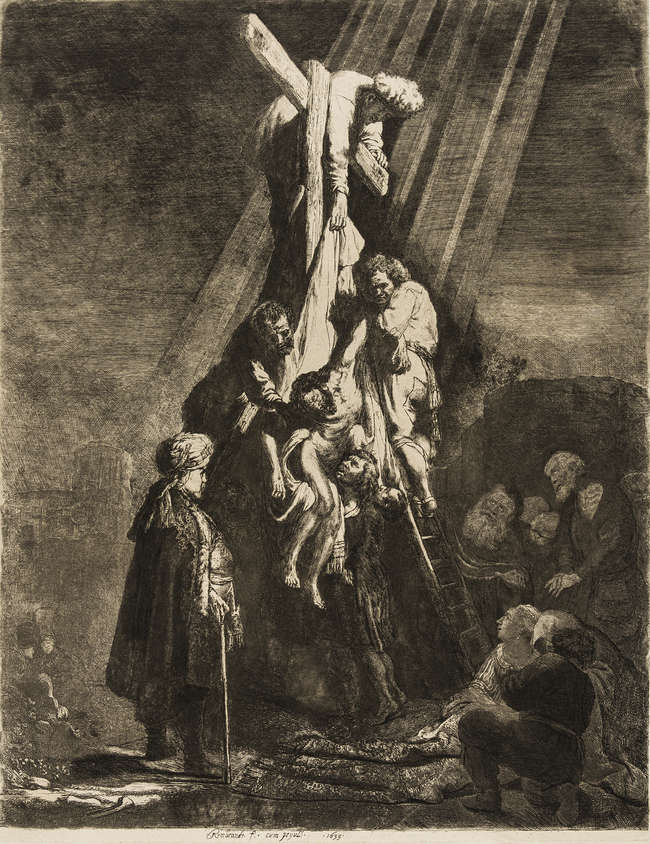 5Rembrandt van Rijn (1606-1669) The Descent from the Cross: Second Plate, 1633.