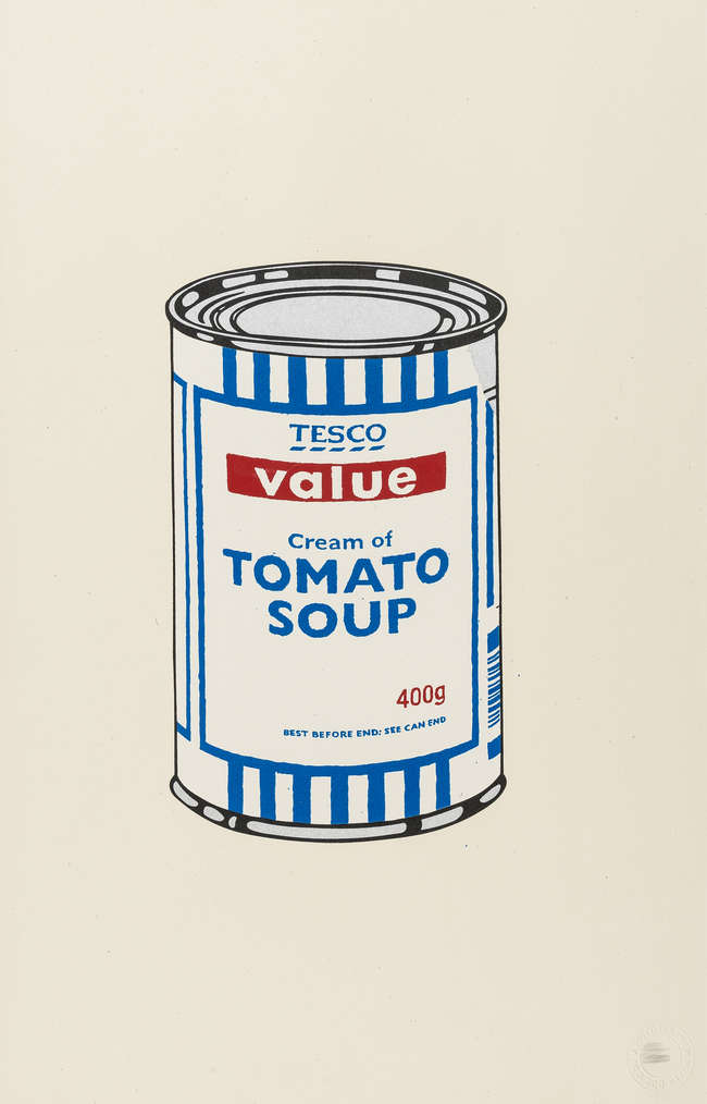 3Banksy Soup Can unisgned