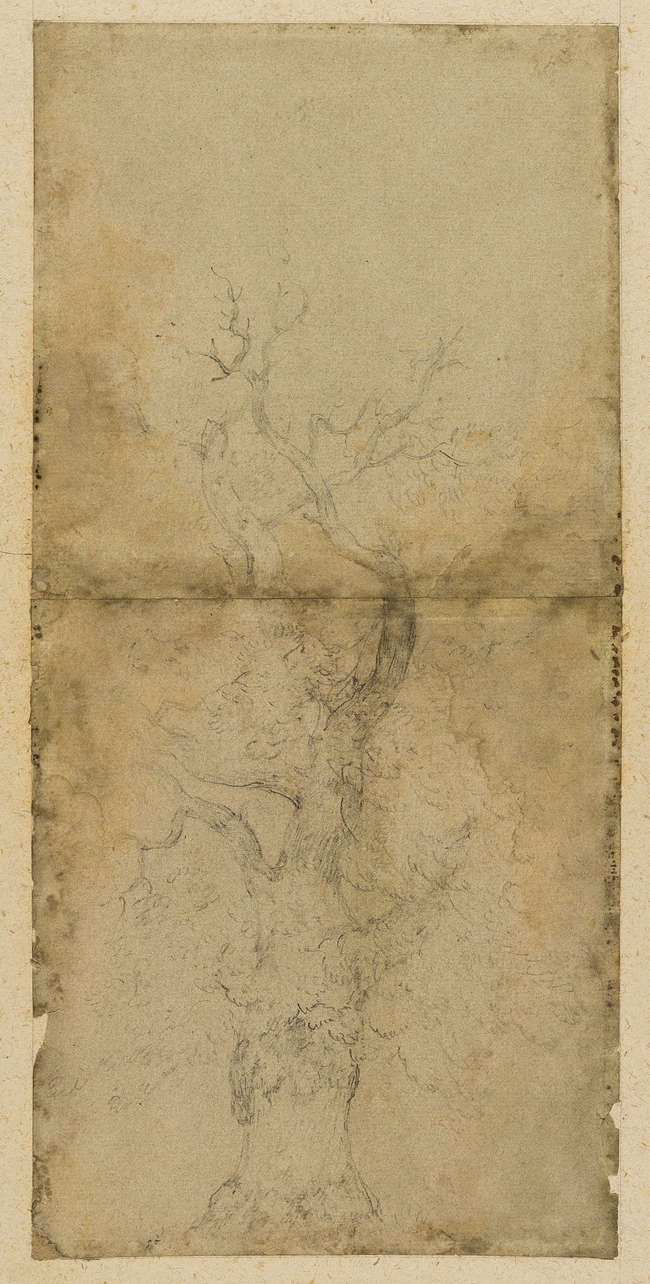 8Thomas Gainsborough (1727-1788) Study of a Cottage and Trees [recto]