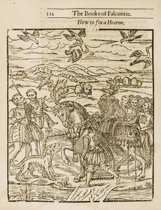 Hawking & Hunting.- Turberville (George) The Booke of Falconrie or...