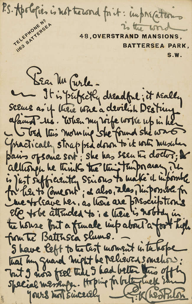 Letters.- Collection of letters to Richard Curle, including: Arnold...