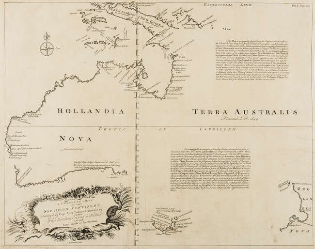 Australia.- Bowen (Emanuel) A complete map of the southern continent...
