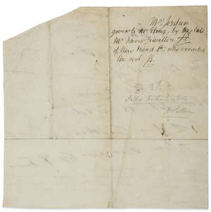 177  Jordan (Dorothy, actress, mistress of William IV) Autograph note, engraved on a seal,