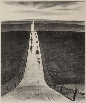 5  Christopher Richard Wynne Nevinson (1889-1946) The Road from Arras to Bapaume (Leicester Galleries 37)
