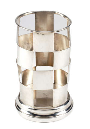 7  An Italian silver coloured bottle stand by Gucci