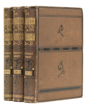 0  Hardy (Thomas) The Return of the Native, 3 vol., first edition in book form, first issue, original cloth, 8vo, Smith, Elder, & Co., 1878.
