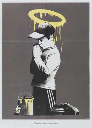 12  Banksy (b.1974) (after) Forgive us our trespasses