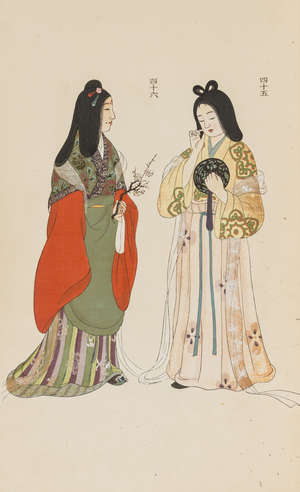 89  China.-  [Costumes], vol.2 only (of 2), 10 colour plates, original wrappers, folio, [c1880].