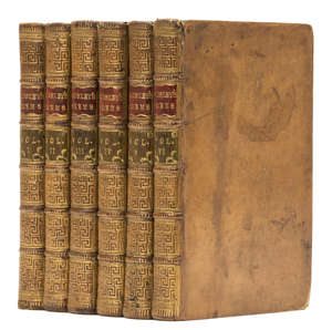 22  Dodsley (Robert) A Collection of Poems...by Several Hands, 6 vol., contemporary calf, spines gilt, 8vo, J.Dodsley, 1775.