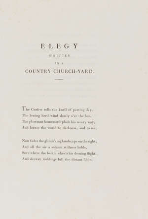 27  Bodoni.- Gray (Thomas) Poems, [one of 100 large paper copies], contemporary tan morocco, gilt, 4to, Parma, Bodoni, 1793.