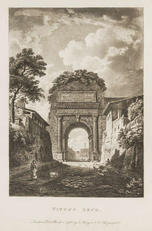 98  Italy.- Merigot (James) A Select Collection of Views and Ruins in Rome and its vicinity, aquatint additional pictorial title and 61 plates, contemporary russia, gilt, 4to, 1797-99.