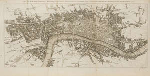 121  London.- Chamberlain (Henry) A New and Compleat History and Survey of the Cities of London and Westminster, first edition, subscriber's copy with inscription, engraved frontispiece, 2 maps & 65 plates, with additional hand-coloured mezzotint & broadside of John Wilkes, for J.Cooke, 1770.