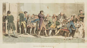 35  Atkinson (John Augustus).- Beresford (James) The Miseries of Human Life..., 2 vol., extra-illustrated with 17 folding hand-coloured aquatints by Atkinson, contemporary half calf, 8vo, 1807.