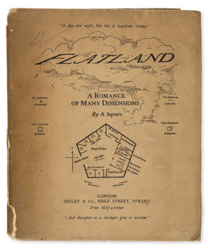 51  Abbott (Edwin A.) Flatland, A Romance of Many Dimensions, first edition, original wrappers, dust-jacket, 4to, 1884.