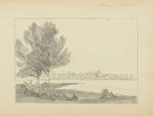 147  Yorkshire.- Cuitt the Younger (George) An album of approximately 40 drawings, mainly of landscapes and studies of trees, [circa 1840s].