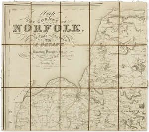 142  Norfolk.- Bryant (Andrew) Map of the County of Norfolk, From an Actual Survey, 1826.