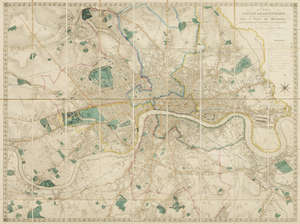 134  London.- Lewis (Samuel) A Plan of London and its Environs, Shewing the Boundaries of the Cities of London and Westminster , [circa 1850].