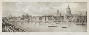 136  London.- Panorama.- Baynes (Thomas Mann) A Lithographic Sketch of the North Bank of the Thames, 10 lithographed plates and folding plan, original wrappers, oblong folio, 1825