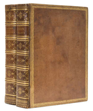 36  Hoare (Sir Richard Colt).- Giraldus Cambrensis. The Itinerary of Archbishop Baldwin through Wales A.D. MCLXXXVIII, 2 vol., extra-illustrated with 10 fine watercolour views, contemporary diced russia, gilt, 4to, 1806.
