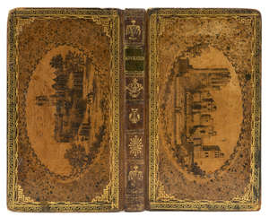 30  Binding.- , Adventurer (The), vol.2, contemporary calf, gilt, with transfer designs in the style of Edwards of Halifax, 12mo, 1793.