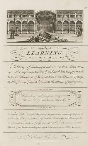 64  Calligraphy.- Bickham  (George) The Universal Penman; or, the Art of Writing..., engraved throughout with 212 numbered calligraphic leaves , H.Overton, 1743.