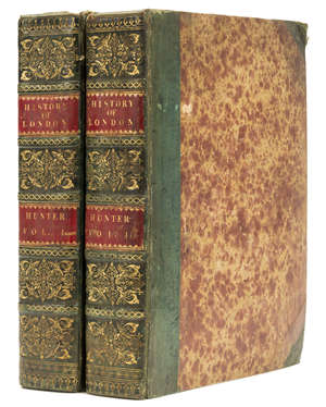 130  London.- Hunter (Rev. Henry) The History of London, and its Environs, 2 vol., first edition in book form, contemporary half calf, 4to, 1811.