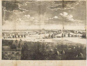 131  London.- Hunter (Rev. Henry) The History of London, and its Environs, 2 vol. in 3, with folding aquatint panorama & key, modern half calf, 4to, 1811.